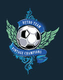 FotbollGrungetryck Royaltyfri Fotografi