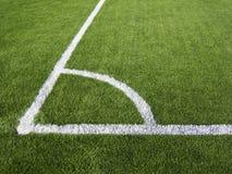 Fotbollhörnmarkering Fotografering för Bildbyråer