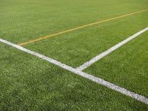 Fotbollhörnmarkering Arkivbild