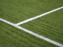 Fotbollhörnmarkering Arkivfoton
