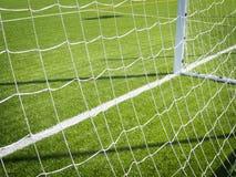 Fotbollhörnmarkering Royaltyfri Bild