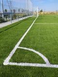 Fotbollhörnmarkering Arkivbilder