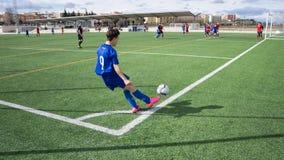 Fotbollhörnspark fotografering för bildbyråer