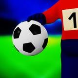fotbollhand vektor illustrationer
