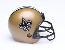 Fotbollhjälm för New Orleans Saints arkivbild