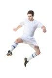 fotbollhoppspelare Royaltyfri Bild
