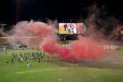 fotbollhuligantumult Royaltyfria Foton