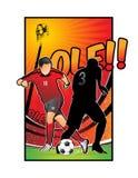 fotbollillustrationfotboll Royaltyfri Foto