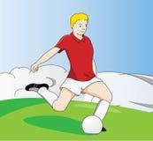 fotbollkick Royaltyfria Bilder