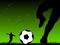 fotbollkick Royaltyfri Fotografi