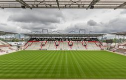 Fotbollklubba för St Pauli, Hamburg arkivbilder