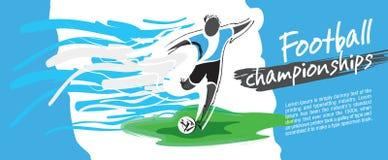 Fotbollkortdesign, fotbollvektor vektor illustrationer