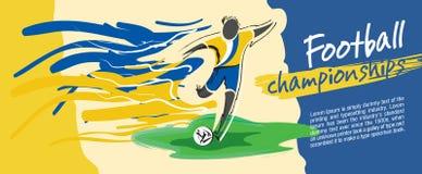 Fotbollkortdesign, fotbollvektor stock illustrationer