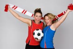 fotbollkvinna Fotografering för Bildbyråer