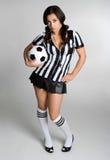 fotbollkvinna Arkivfoto
