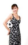 fotbollkvinna Royaltyfria Bilder