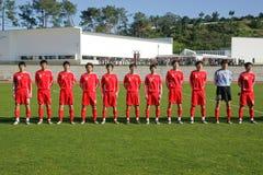 fotbolllag Fotografering för Bildbyråer
