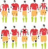 fotbolllag Arkivfoton