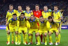 fotbolllandslag ukraine Royaltyfri Bild
