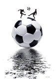fotbolllek royaltyfri illustrationer