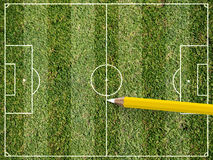 fotbolllek Royaltyfri Bild