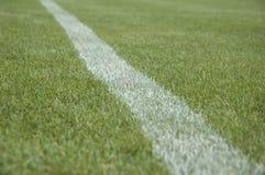fotbolllinje pitch royaltyfri foto