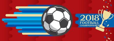 Fotbollmästerskap design, fotbollvektor royaltyfri illustrationer