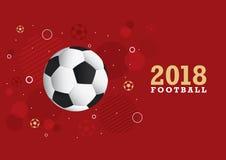 Fotbollmästerskapdesign 2018 Arkivfoto