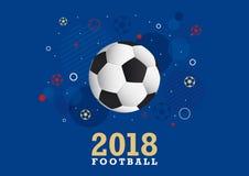 Fotbollmästerskapdesign 2018 Royaltyfri Bild