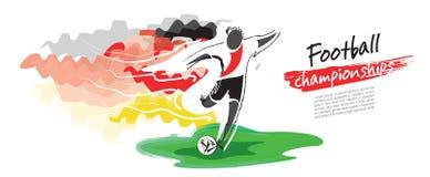 Fotbollmästerskapvektor Konstnärligt bildligt fotbolltecken vektor illustrationer