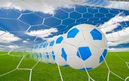 Fotbollmål Fotografering för Bildbyråer