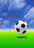 fotbollmål royaltyfria foton