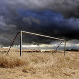 Fotbollmål Royaltyfri Foto
