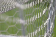 Fotbollmålet förtjänar royaltyfri fotografi