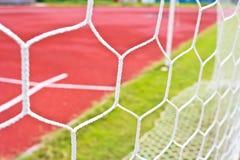 Fotbollmålet förtjänar Arkivbilder