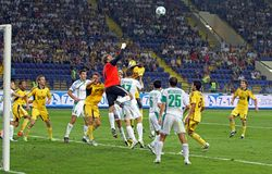 fotbollmatch Arkivfoto