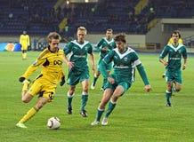 Fotbollmatch Royaltyfri Bild