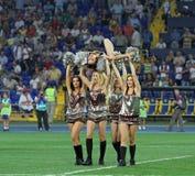 fotbollmatchen sweden teams ukraine Royaltyfria Foton