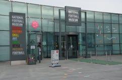 Fotbollmuzeumen i Manchester royaltyfri fotografi