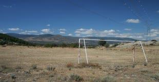fotbollpitch Royaltyfri Bild