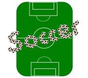 fotbollpitchvektor Arkivfoton