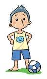 Fotbollpojke Vektor Illustrationer