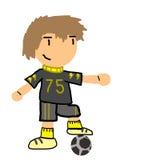 Fotbollpojke royaltyfri illustrationer