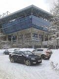 Fotbollsarena för ` för arena för stadion`-VEB i Moskva på den 3rd Peschanaya gatan, den hem- arenan av CSKA-fotbollklubban Royaltyfri Bild
