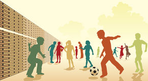 fotbollschoolyard Arkivbild