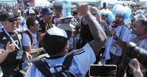 Fotbollsfan av Argentina arkivfilmer