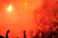 Fotbollsfan huligan Royaltyfri Fotografi