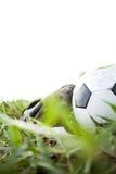 Fotbollskor & fotboll Fotografering för Bildbyråer
