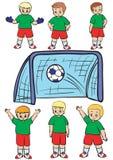 fotbollslag Royaltyfri Illustrationer