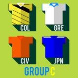 Fotbollslagskjorta vektor illustrationer